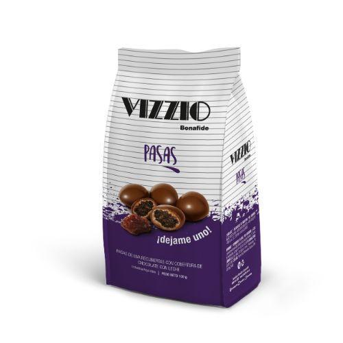BONAFIDE VIZZIO PASAS DE UVA C/CHOCOLATE *100 GR.