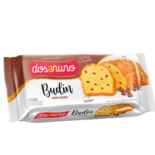 DOS EN UNO BUDIN C/CHIPS CHOCOLATE *140 GR.