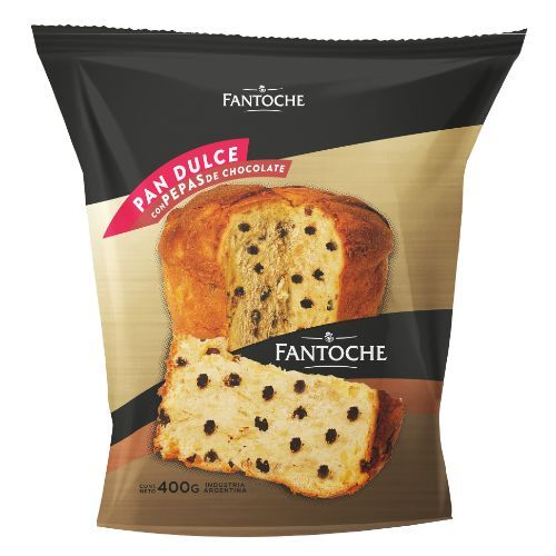 FANTOCHE PAN DULCE C/CHIPS CHOCOLATE *400 GR.