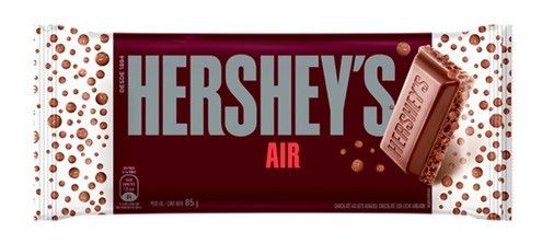 HERSHEYS CHOCOLATE AIREADO C/LECHE x85 GR.