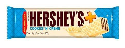 HERSHEYS OBLEA CHOCOLATE COOKIES&CREME x102 GR.