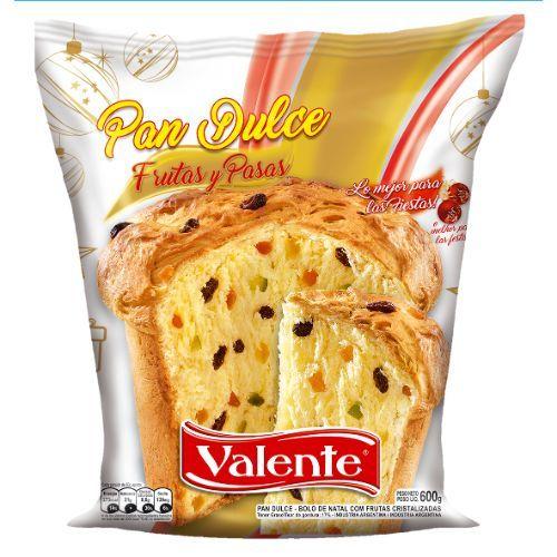 VALENTE PAN DULCE C/FRUTA *600 GR.